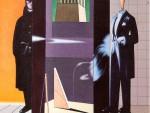 59. Sergio Sarri, Omaggio a de Chirico, 2008, acrilico su tela, 66x58cm